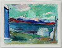 norwegian landscape by hans haakoe