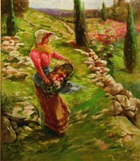 picking flowers by charles john arter