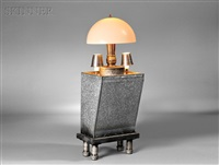three-light table lamp by r.m. fischer