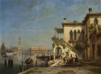 blick auf den dogenpalast und die piazzetta by julius edward w. helfft