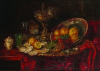still life by hermann gottlieb kricheldorf