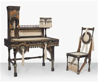 desk and chair by carlo bugatti
