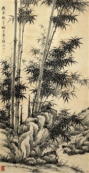 竹石图 by xiang kui