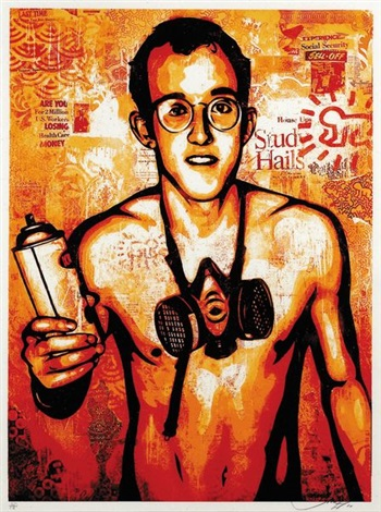 keith haring by shepard fairey