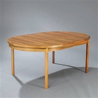 conference table with extension leaves (in 5 parts) by vagn jacobsen