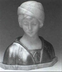 bust of a young woman by morin