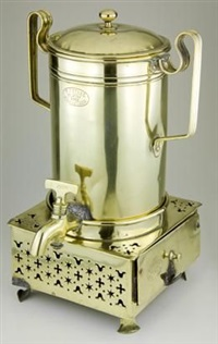 coffee urn and konfoor by johannes frederik staal