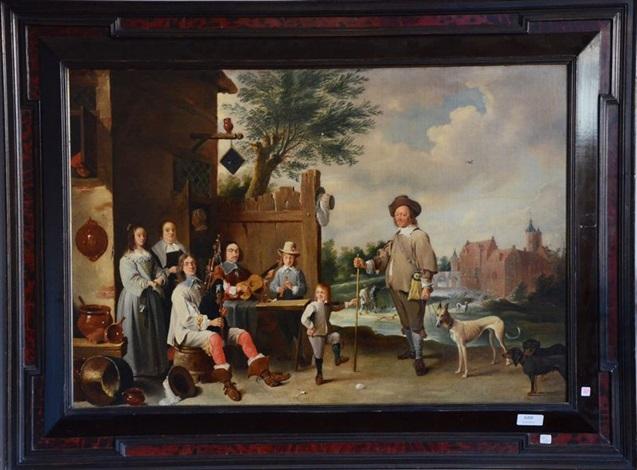 scène de famille by rembrandt van rijn