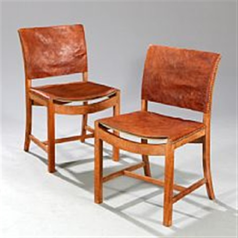 Superieur A Pair Of Oak Side Chairs By Mogens Voltelen