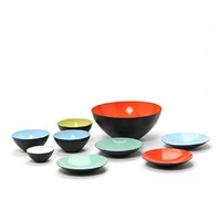 collection of bowls (set of 9) by herbert krenchel