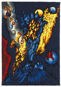 kosmische vision - tapestry by dirk holger