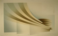 guggenheim, new york from the frank lloyd wright series (21 works) by richard davies