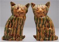 cat figurines (pair) by hylton nel