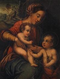 madonna col bambino e san giovannino by francesco del brina