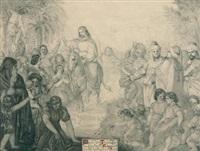 christi einzug in jerusalem by philipp veit