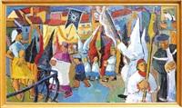 la procession des pénitents blancs by pierre ambrogiani