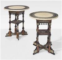 two side tables by carlo bugatti