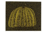 pumpkin yellow y by yayoi kusama