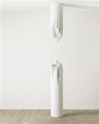 building cut - column no.1 by daniel arsham