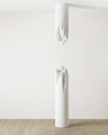 building cut column no1 by daniel arsham