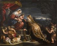 die mystische vermählung der heiligen katharina by leandro da ponte bassano