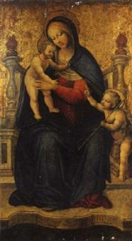 madonna in trono con bambino e san giovannino by augusto de gifono tesauro
