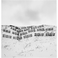 twenty fences, obira, hokkaido, japan by michael kenna
