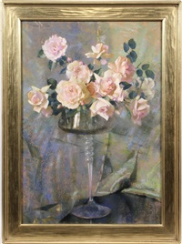 pink roses by laura coombs hills