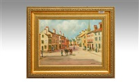 french village square by bernard mcmullen