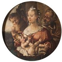 la sainte famille avec saint jean baptiste by correggio