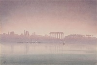 the nile at philae by george henry benton (major) fletcher