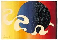 zeichen - tapestry by dirk holger