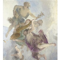 study for a ceiling decoration by henri léopold lévy