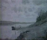 flusslandschaft by vasili (vladimir) vasilievich perepletchikov