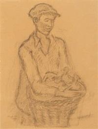 boy (+ portrait of marianne; 2 works) by georg jacobsen