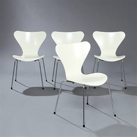 seven chair model 3107 set of 4 by arne jacobsen