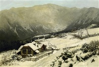 winter im riesengebirge by carl julius e. ludwig