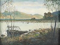 paesaggio a cannobio sul lago maggiore presso il torrente cannobino by gian lorenzo reschigna