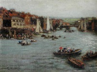 regatta day, whitby by william westley manning