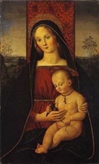 madonna con bambino by andrea di aloigi di apollonio da assisi