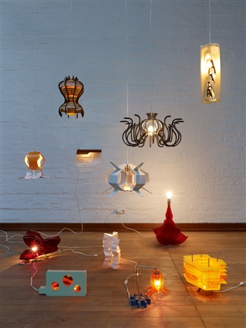 penelope lamps set of 12 by jorge pardo