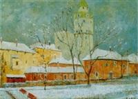 hall im winter mit münzturm by helmut rehm
