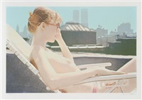 roof-top sunbather (from city scapes) by hilo chen