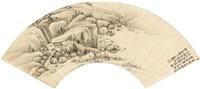 林亭秋色 (landscape) by zhuang jiongsheng