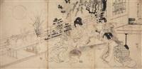 .. gatsu (from jûnigatsu no uchi) (draft for triptych) by toyohara chikanobu