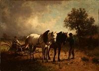 harvest scene by conrad bühlmayer