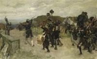 blüchers truppen erblicken den rhein by robert von haug