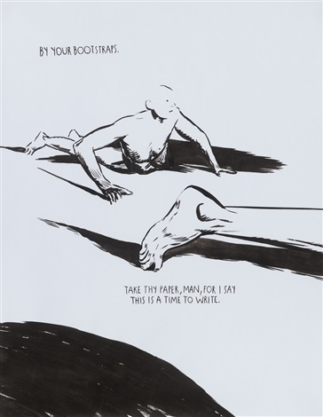 by your bootstraps by raymond pettibon
