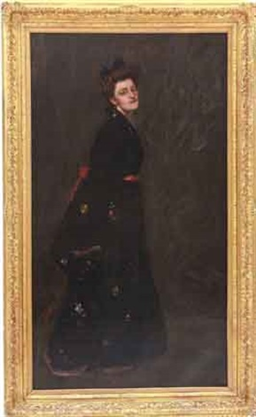 the black kimono by william merritt chase