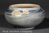 bowl decorated by anna frances simpson by newcomb college pottery